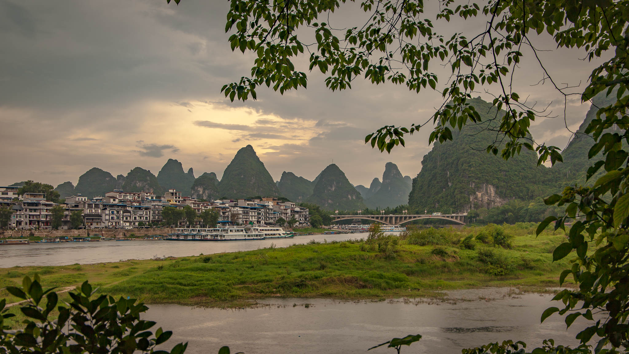 Atardeceres en la región del Karst de Yangshou