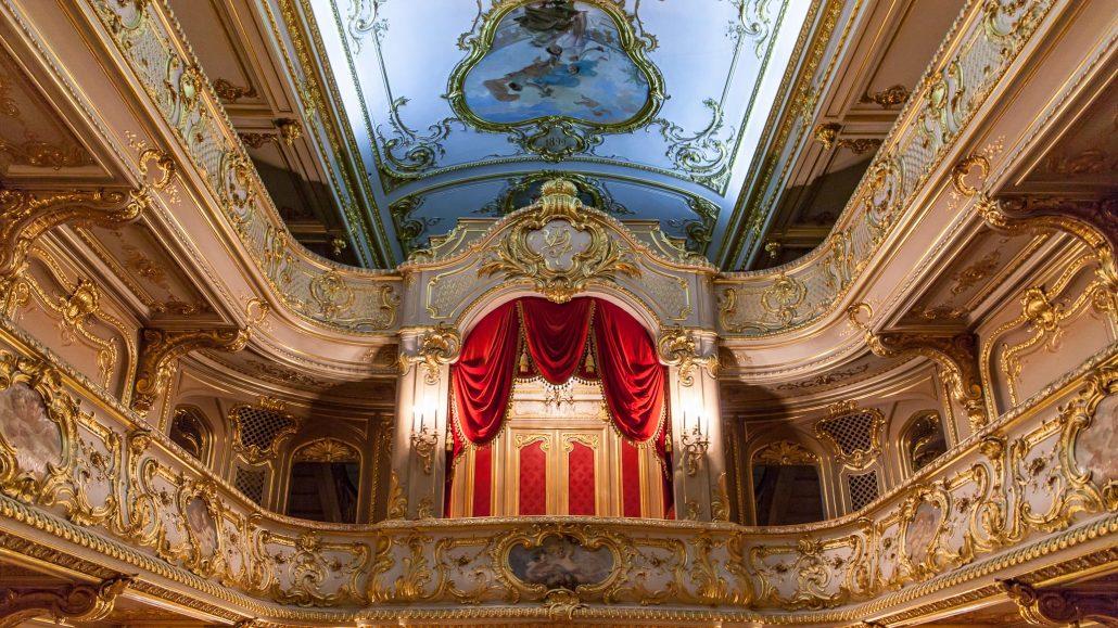 Teatro dentro del Palacio Yusupov