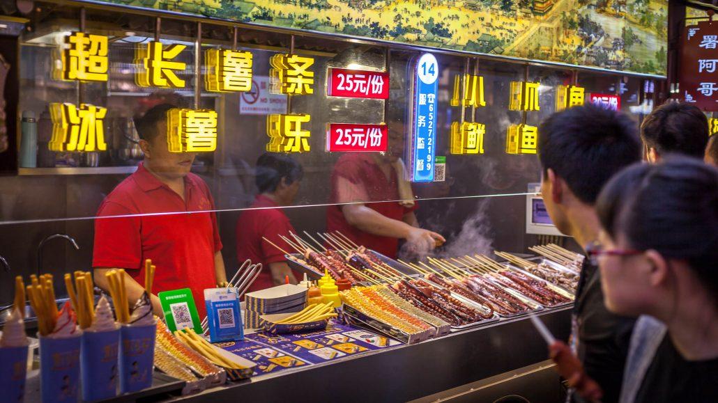 Comida callejera Pekín