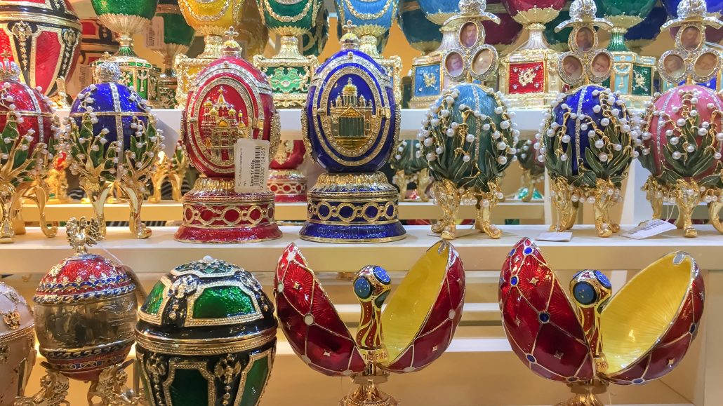 Compras de souvenirs en San Petersburgo
